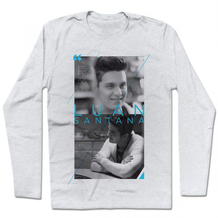 Camiseta Manga Longa Luan Santana - Te Esperando Modelo 2