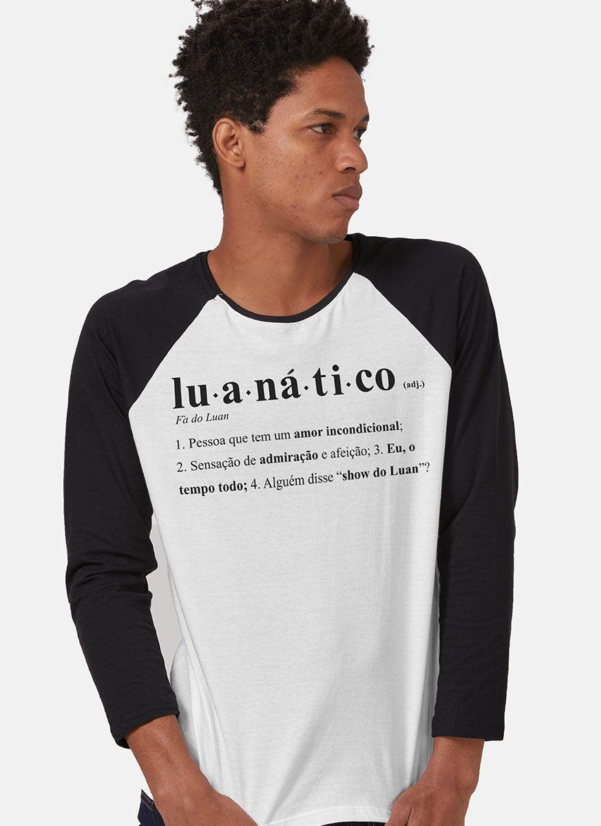 Camiseta Manga Longa Masculina Luan Santana Ser Luanático