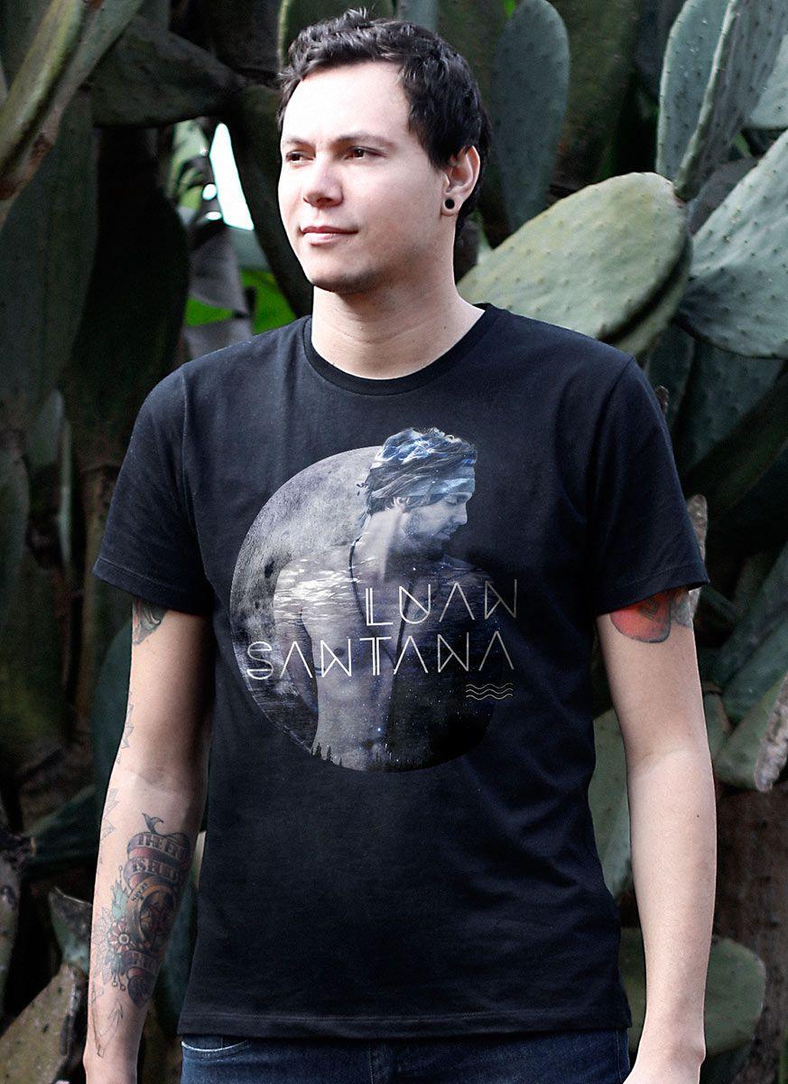 Camiseta Masculina Luan Santana A Lua Até Beijou o Mar