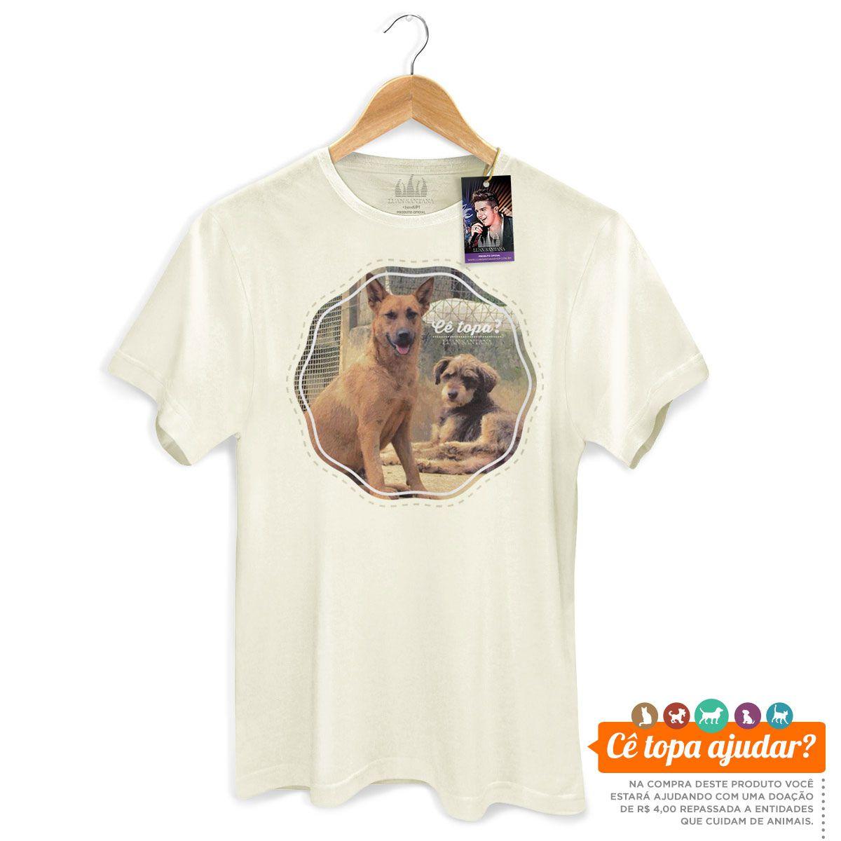 Camiseta Masculina Luan Santana Cê Topa Me Adotar?