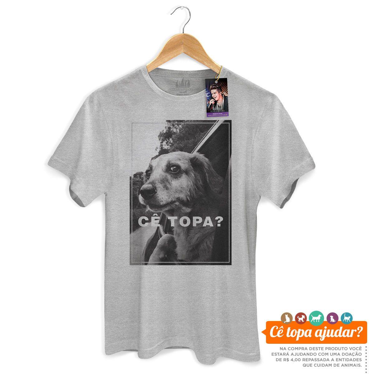 Camiseta Masculina Luan Santana Cê Topa Me Levar Pra Casa?