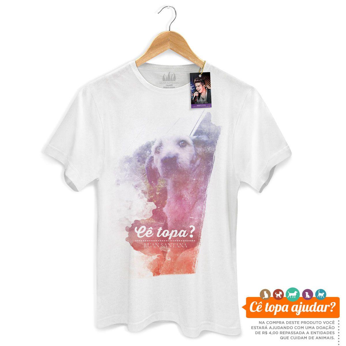 Camiseta Masculina Luan Santana Cê Topa Me Levar Pra Casa? Feelings