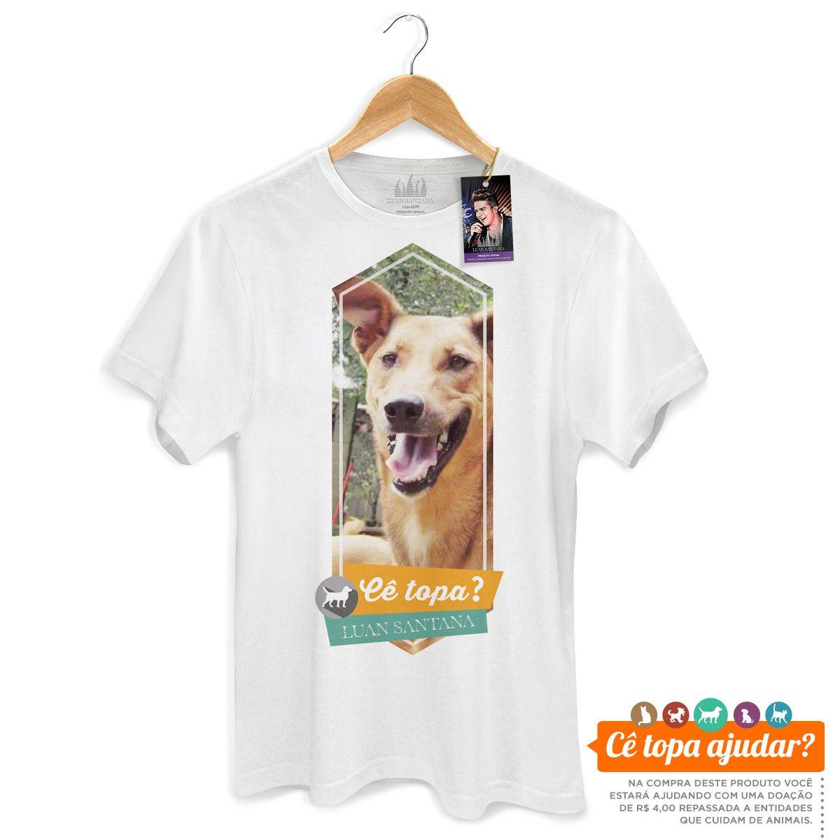 Camiseta Masculina Luan Santana Cê Topa Um Pastor?