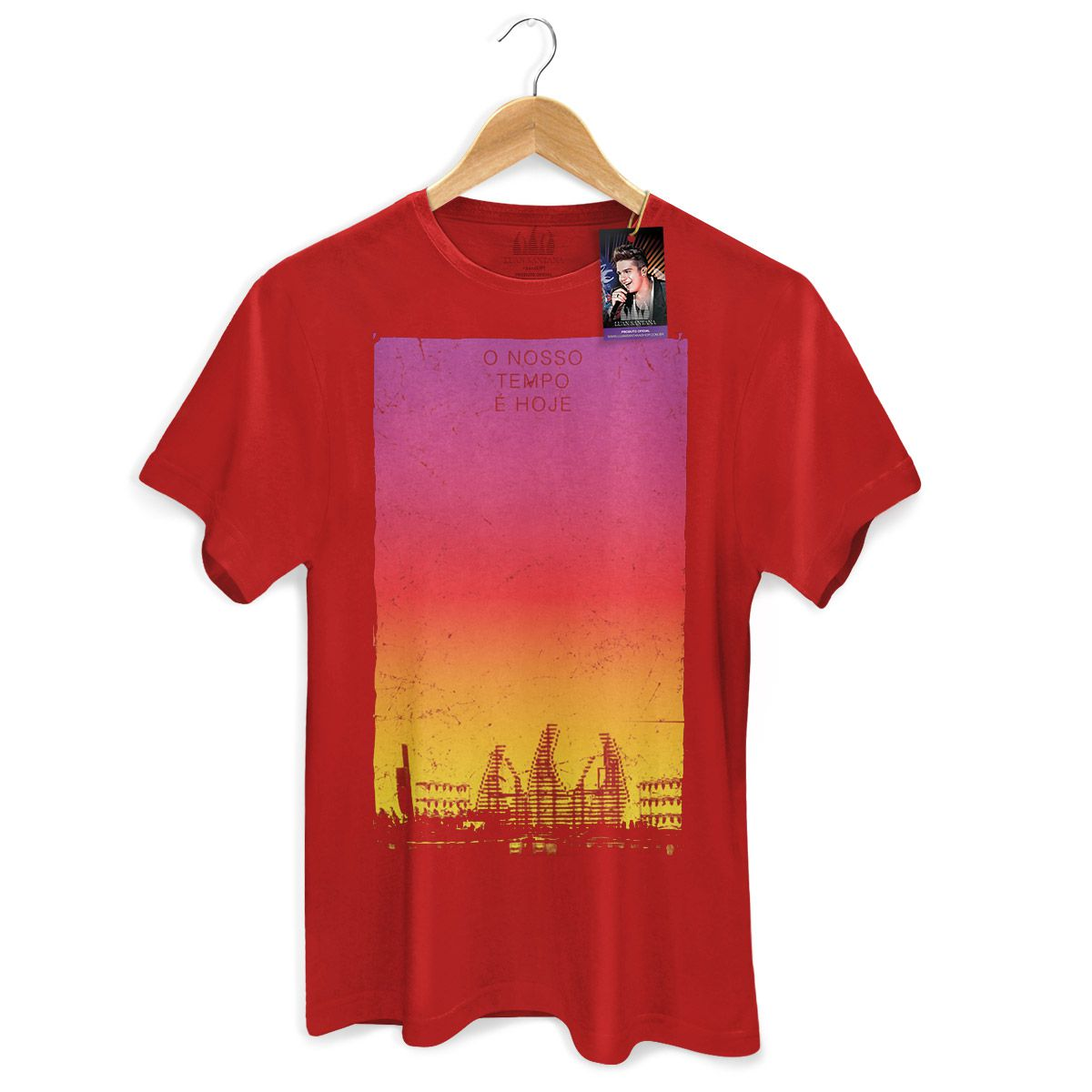 Camiseta Masculina Luan Santana - Concept Red