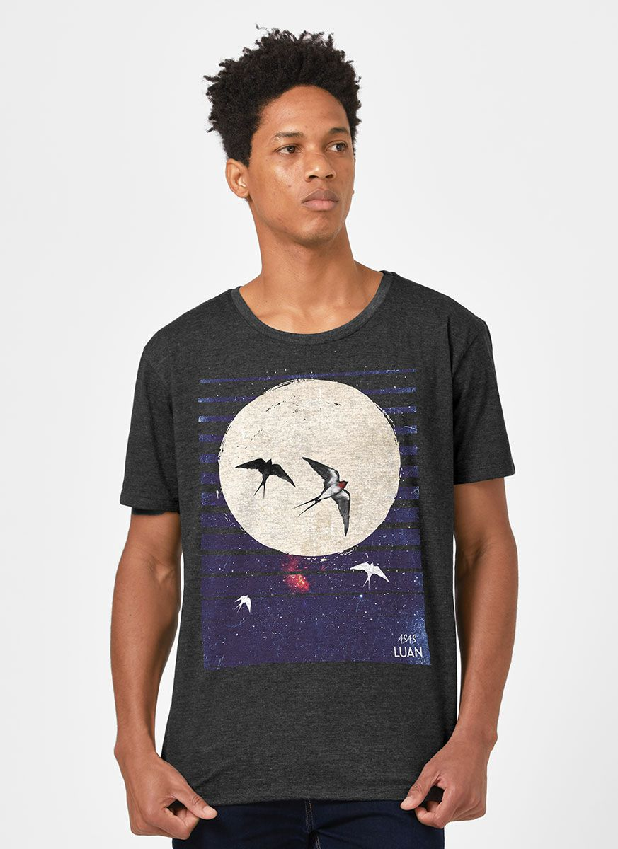 Camiseta Masculina Luan Santana É Como se Morasse um Céu