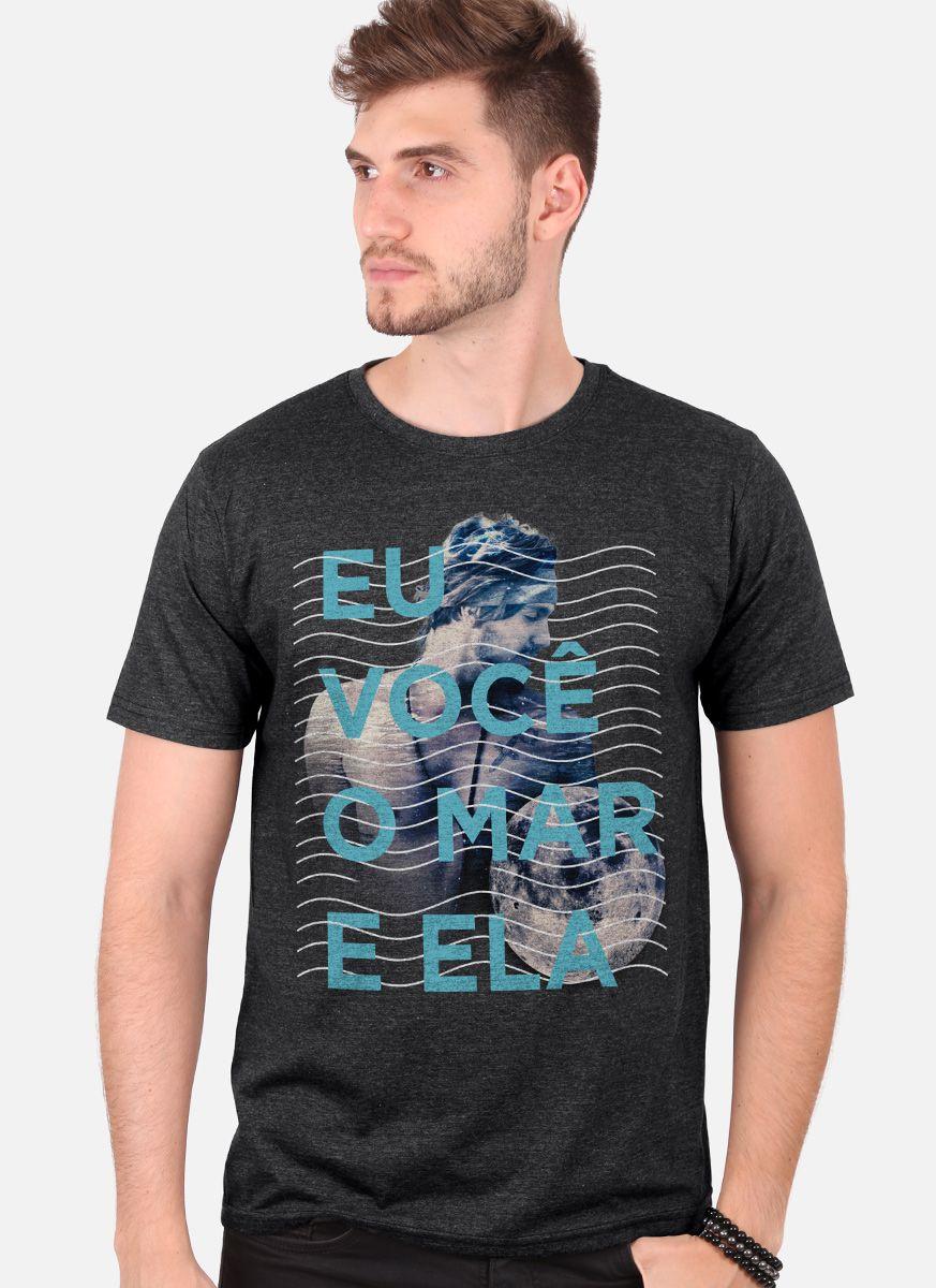 Camiseta Masculina Luan Santana Eu, Você, o Mar e Ela