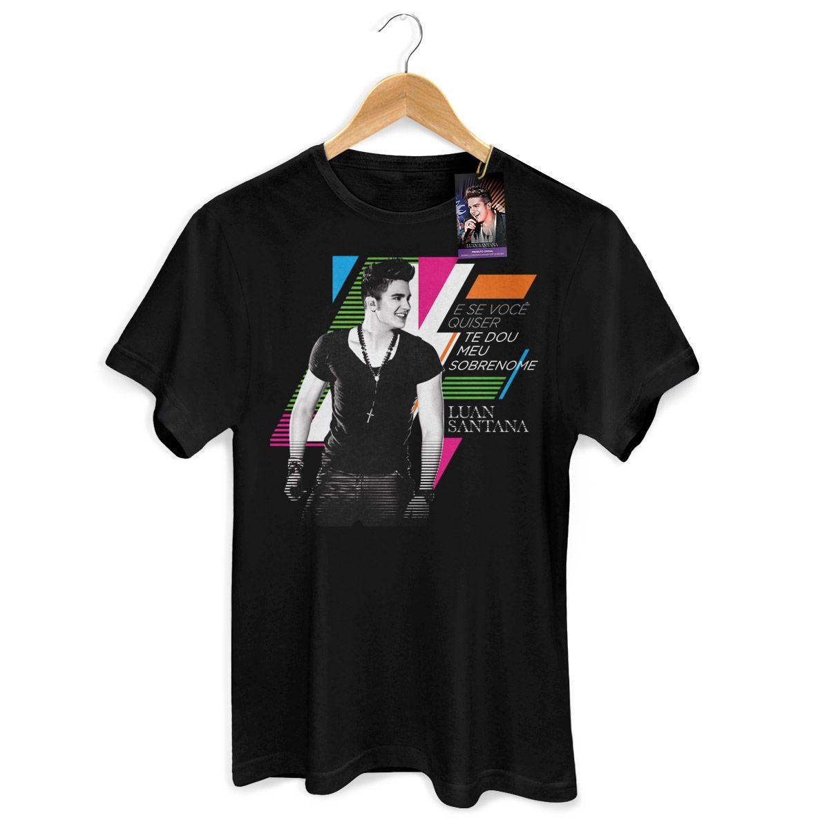 Camiseta Masculina Luan Santana - Meu Sobrenome