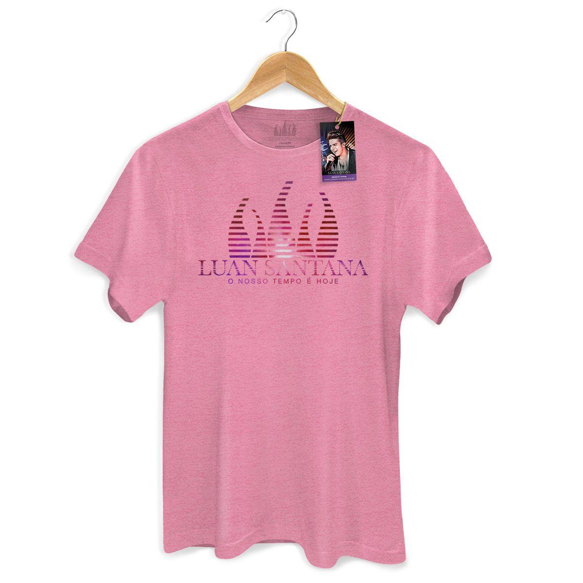 Camiseta Masculina Luan Santana - O Nosso Tempo é Hoje Logo Modelo 2