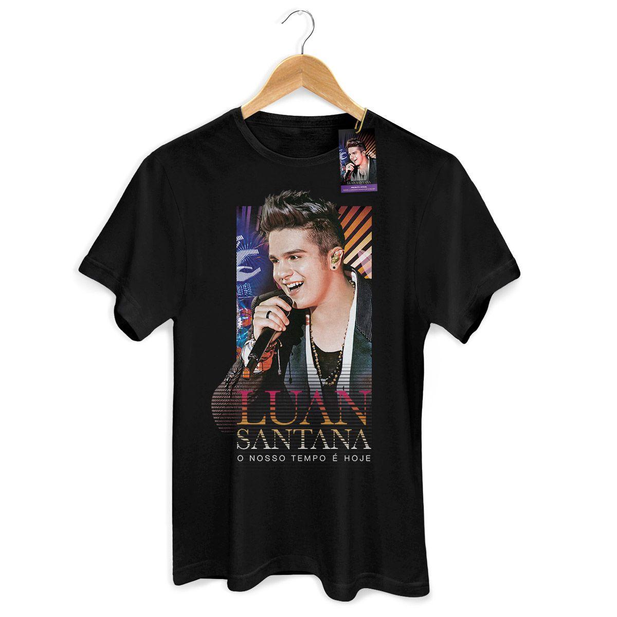 Camiseta Masculina Luan Santana - O Nosso Tempo é Hoje Modelo 2