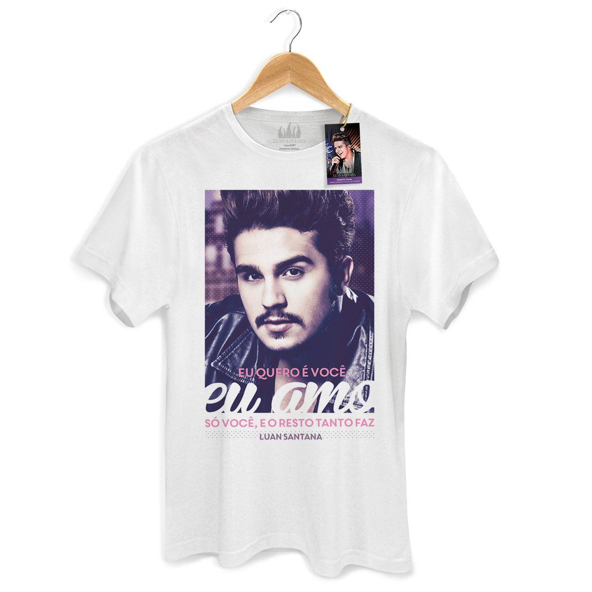 Camiseta Masculina Luan Santana Tanto Faz