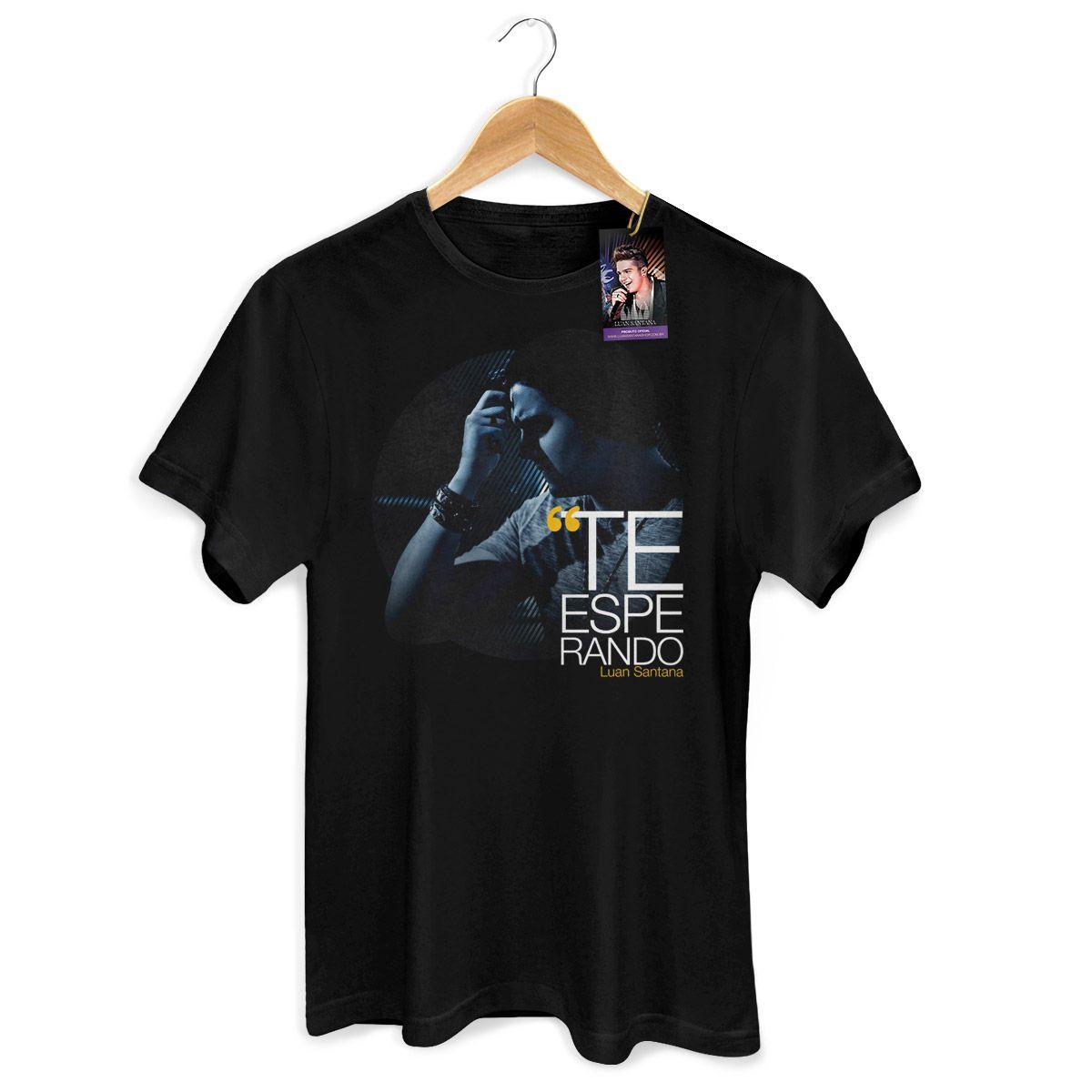 Camiseta Masculina Luan Santana - Te Esperando