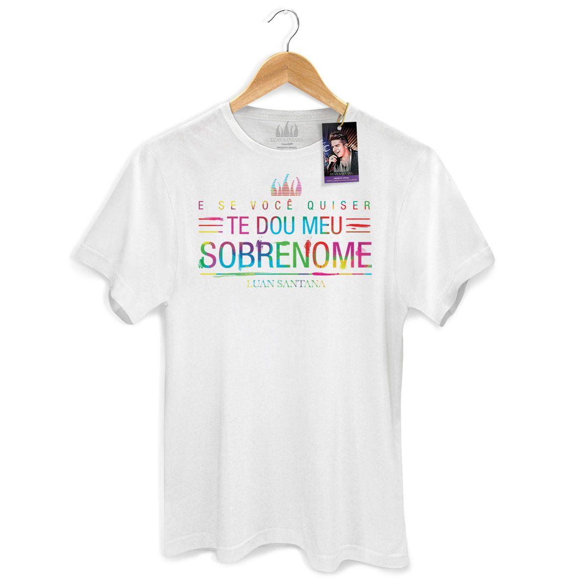 Camiseta Masculina Luan Santana - Tudo Que Você Quiser