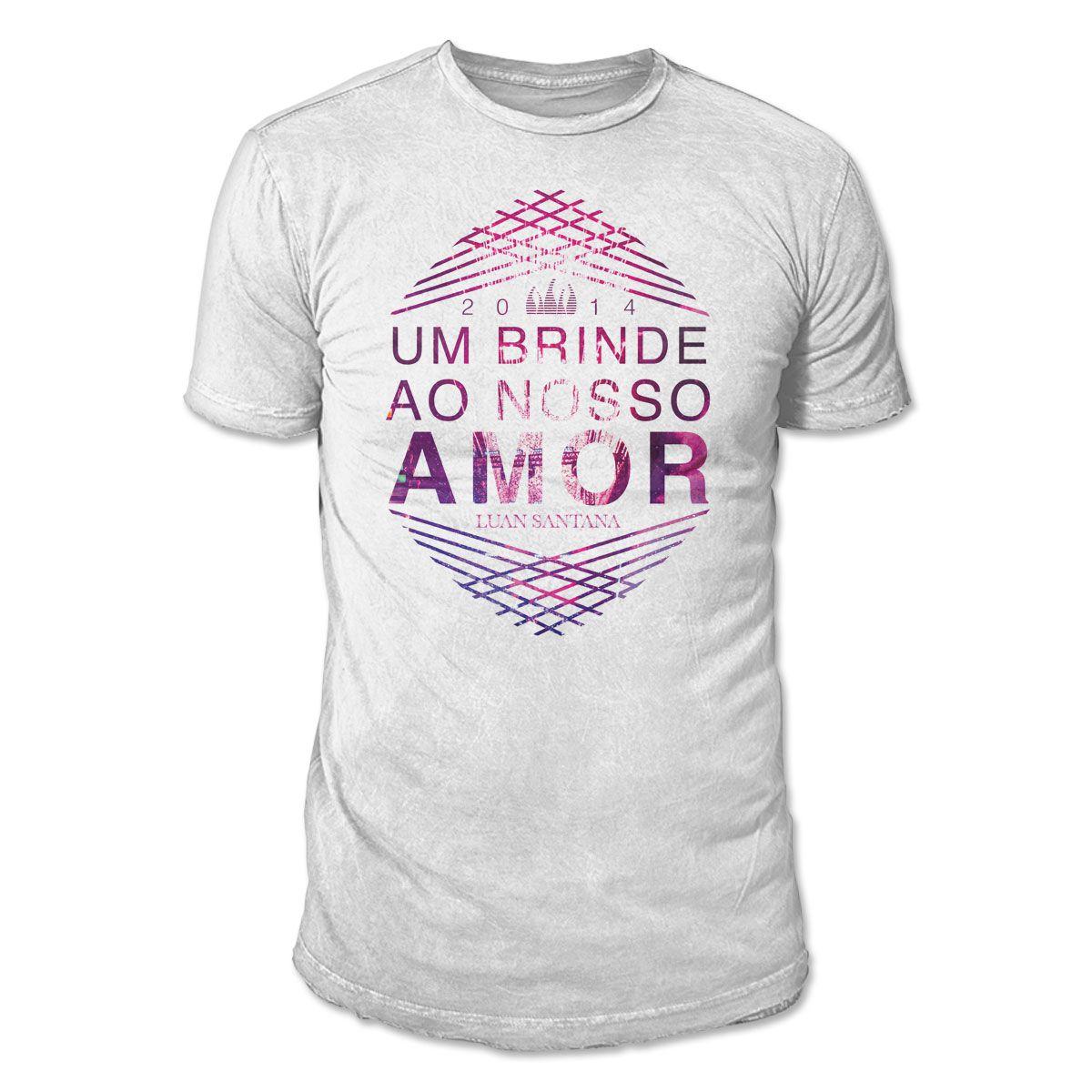 Camiseta Masculina Luan Santana - Um Brinde Ao Nosso Amor 2