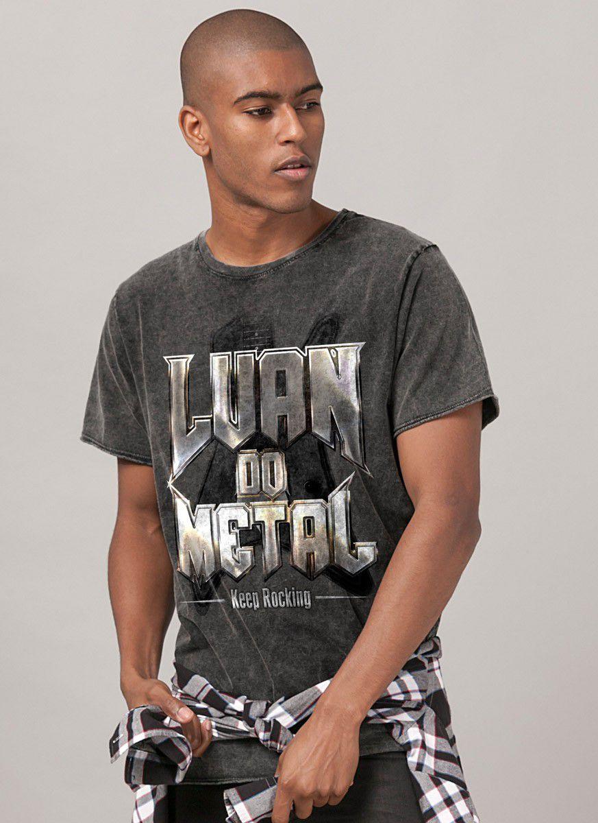 Camiseta Unissex Marmorizada Luan do Metal Keep Rocking