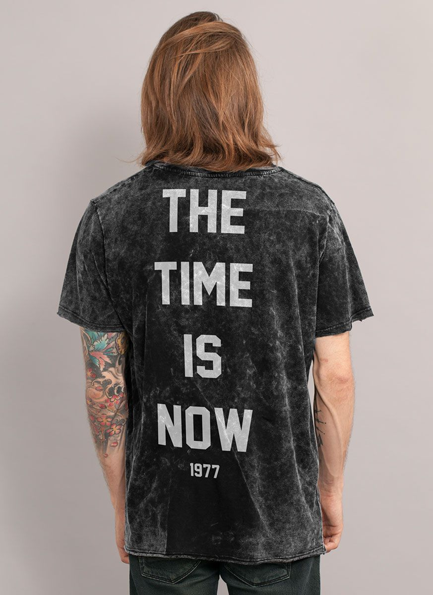 Camiseta Masculina Marmorizada Luan Santana 1977 The Time is Now