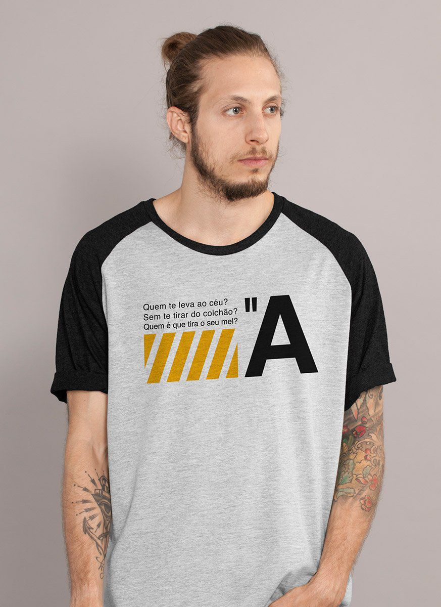 Camiseta Raglan Masculina Luan Santana Quem te Leva ao Céu?