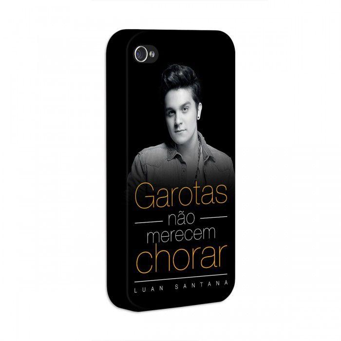 Capa de iPhone 4/4S Luan Santana - Garotas Não Merecem Chorar
