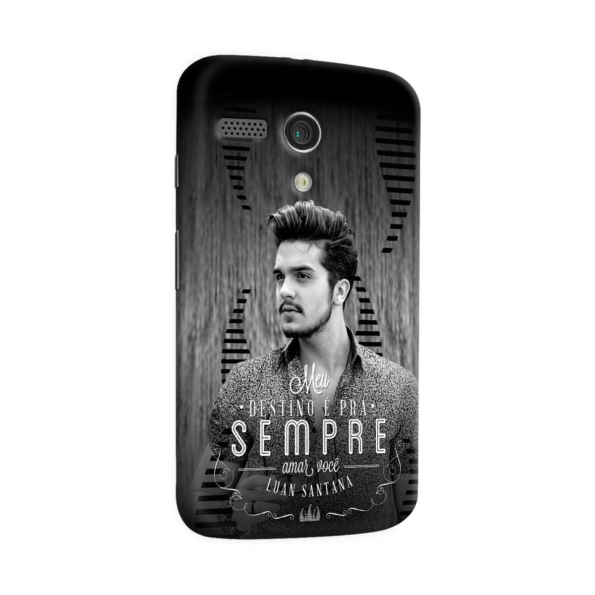 Capa para Motorola Moto G 1 Luan Santana Meu Destino P&B