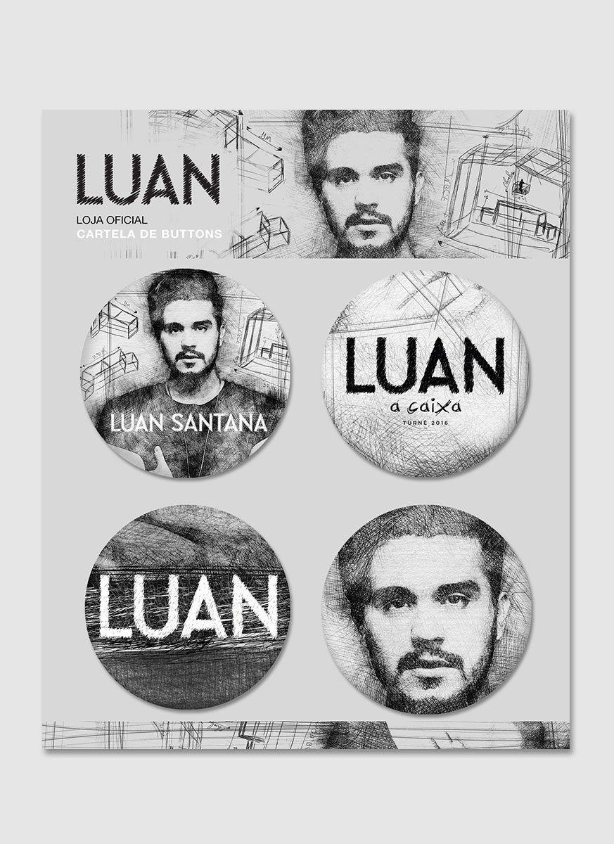 Cartela de Buttons Luan Santana A Caixa