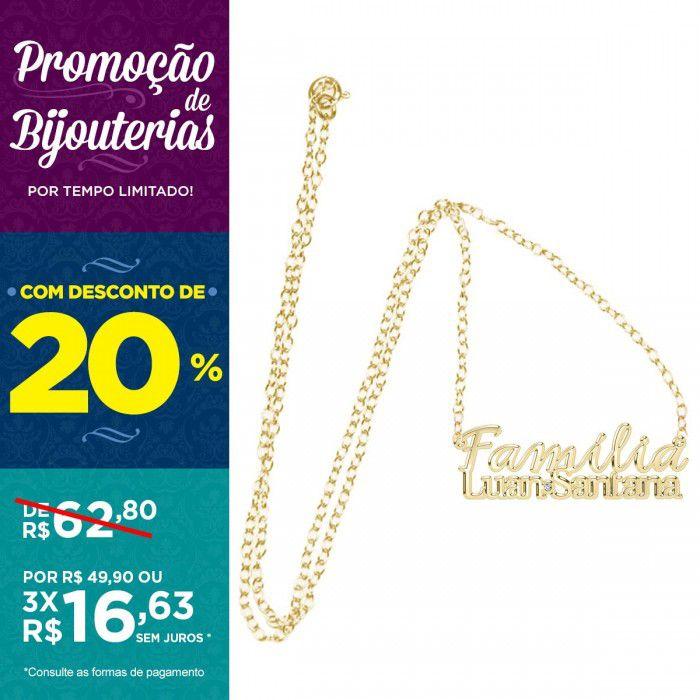 Colar Ouro Luan Santana - Família
