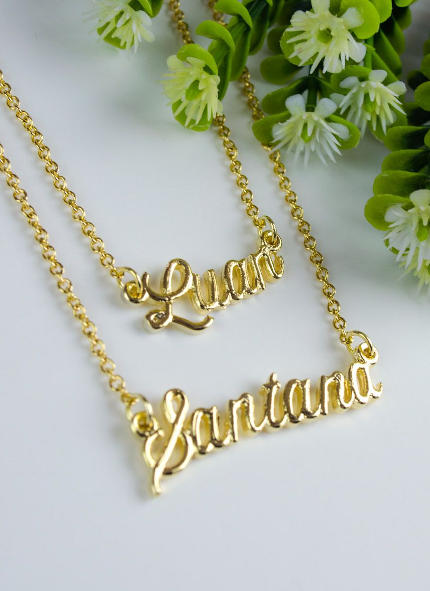 Colar Ouro Luan Santana LS