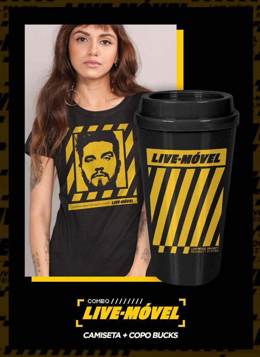 Combo Camiseta + Copo Bucks Luan Santana Live Móvel