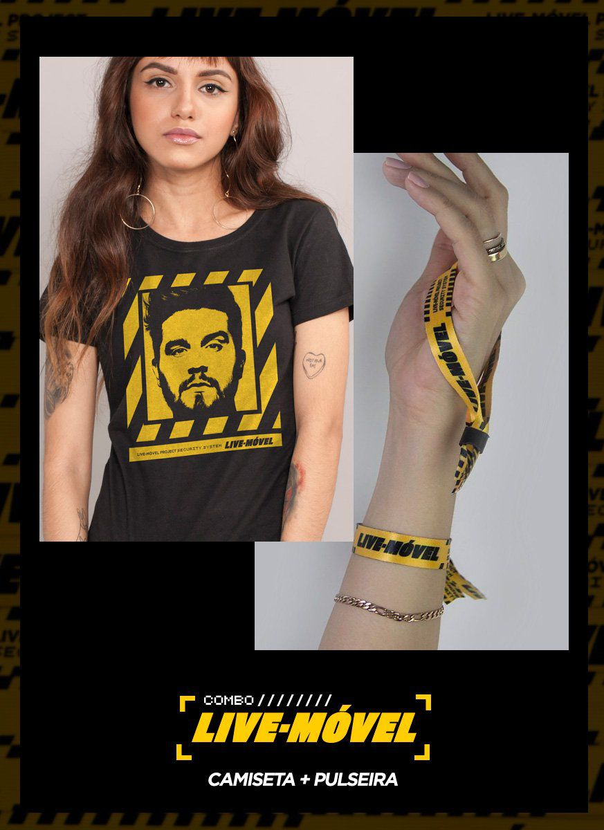 Combo Camiseta + Pulseira Luan Santana Live Móvel
