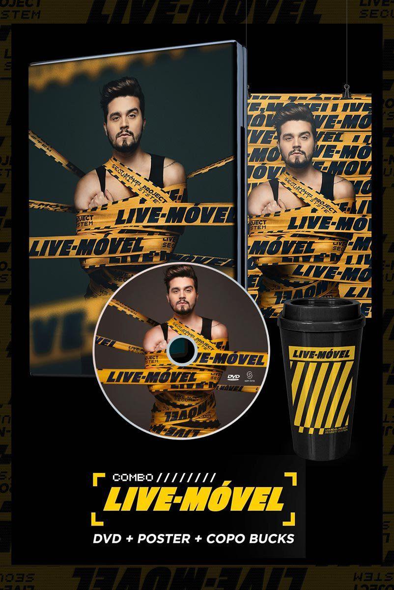 Combo Luan Santana Live-Móvel DVD + Copo Bucks + Pôster