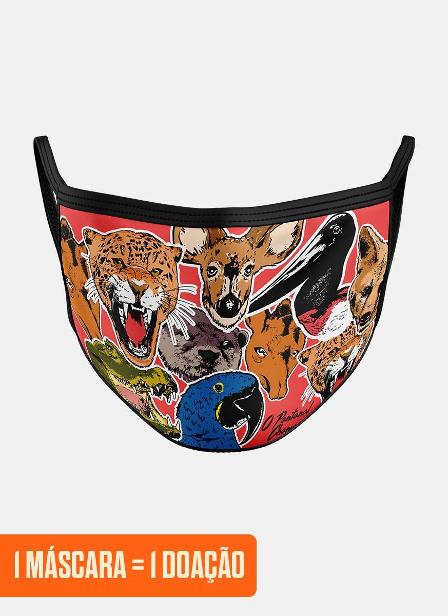 Máscara O Pantanal Chama <b>Animais</b>