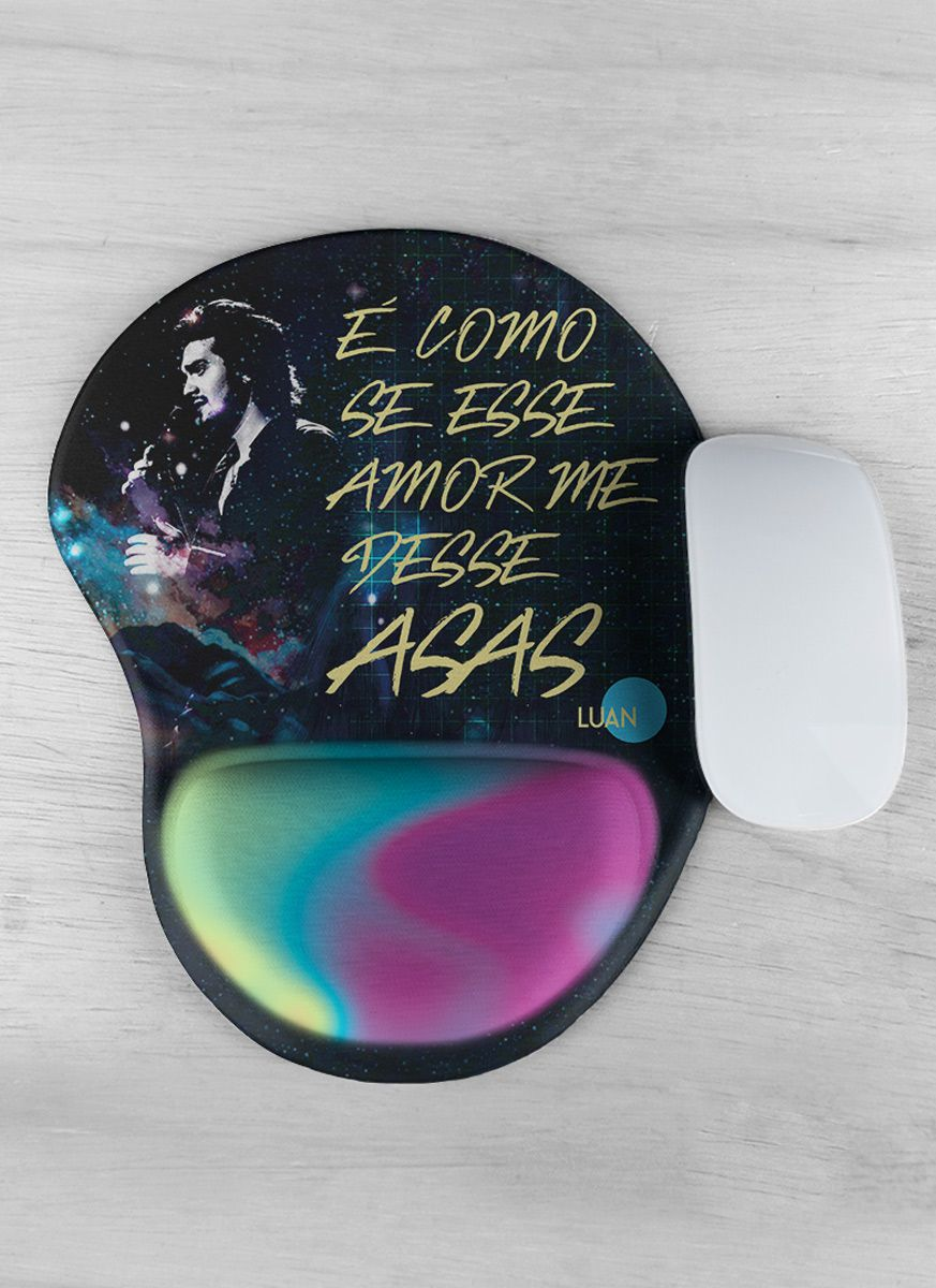 Mousepad Luan Santana É Como se Esse Amor me Desse Asas