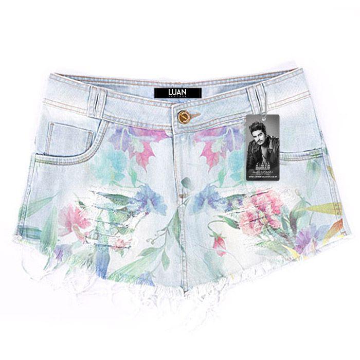 Shorts-Saia Jeans Luan Santana Flowers