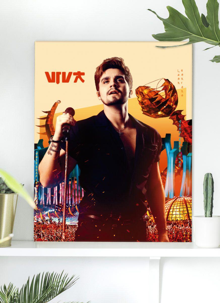 Quadro Luan Santana DVD Viva em Salvador Capa