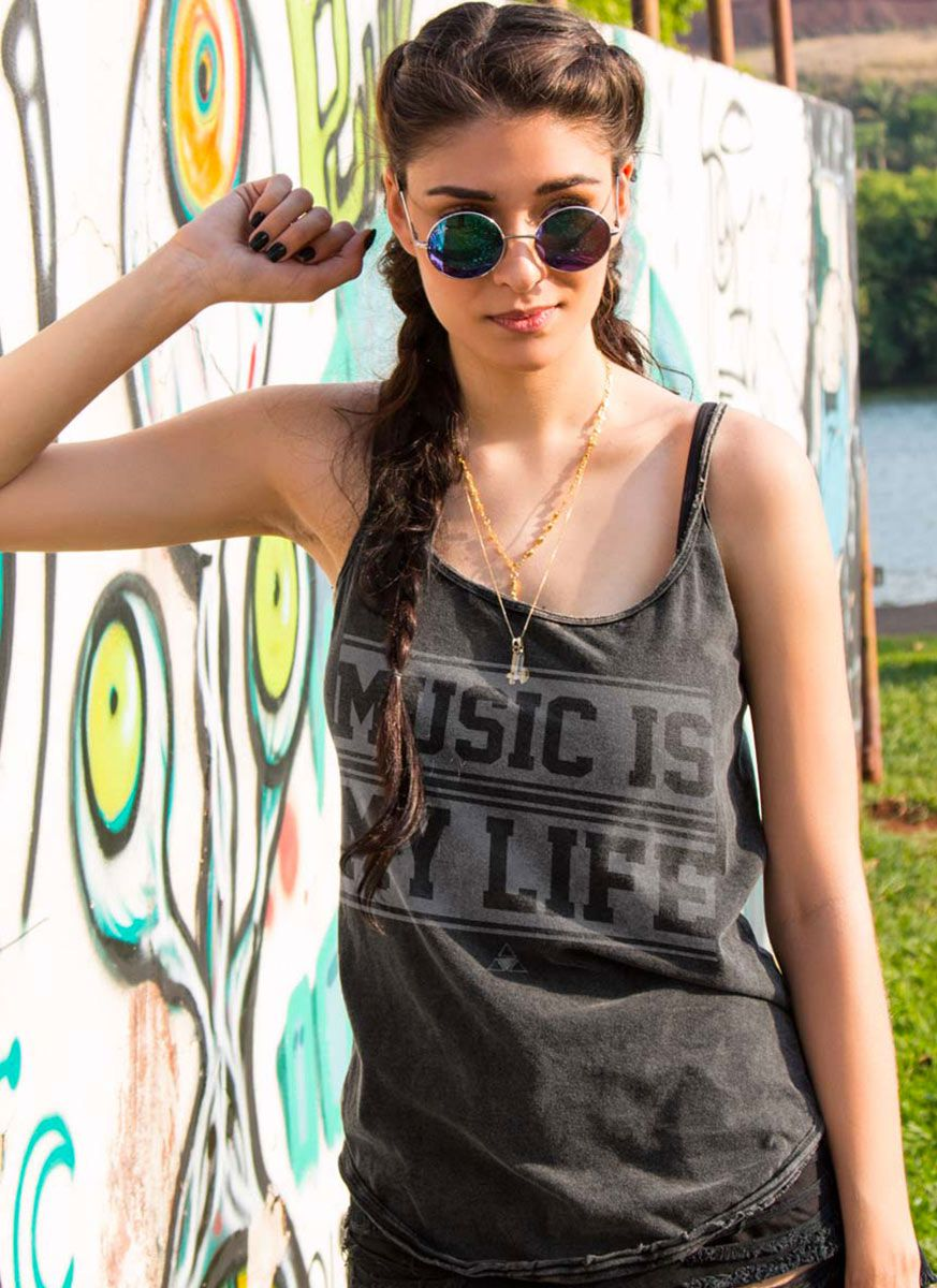 Regatinha Feminina Luan Santana Music Is My Life