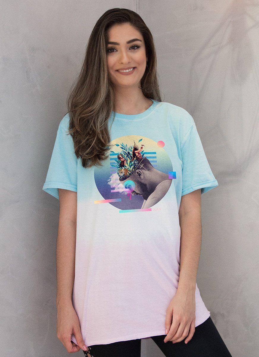 T-Shirt Feminina Luan Santana Check-In