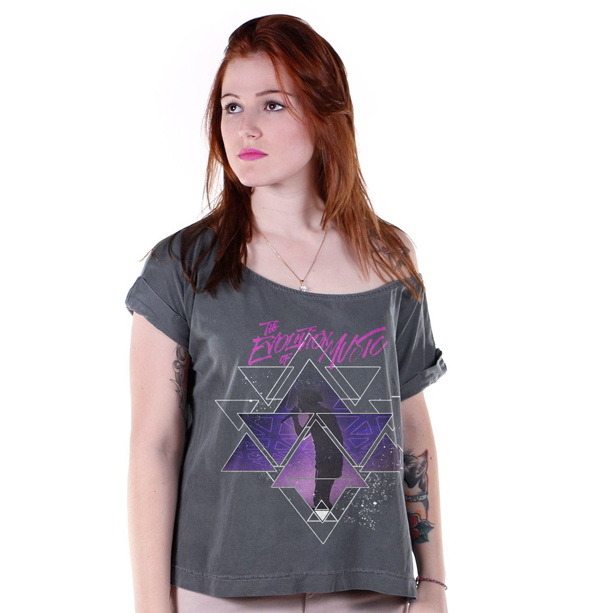 T-shirt Premium Feminina Luan Santana The Evolution Of Music