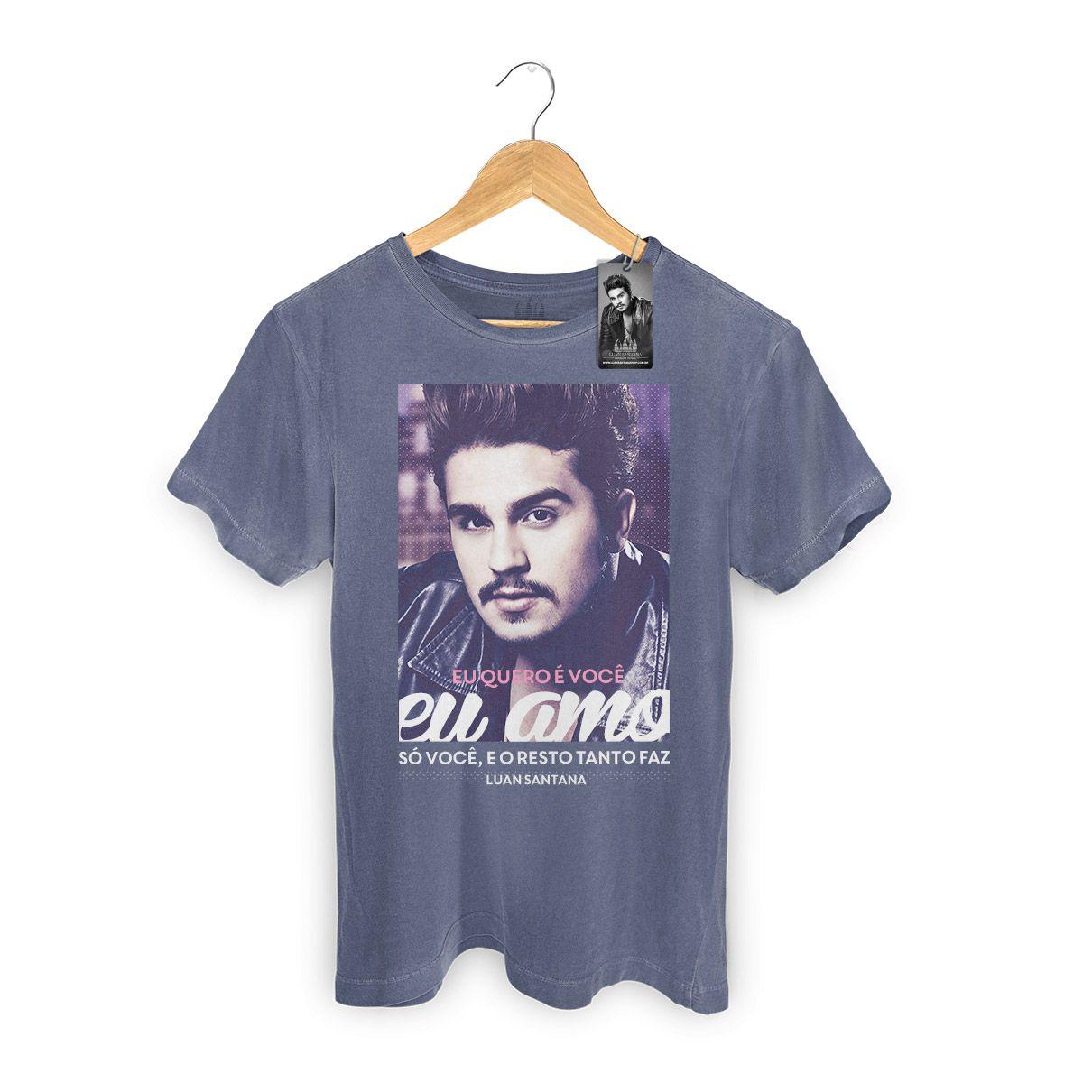 T-shirt Premium Masculina Luan Santana Eu Amo Só Você