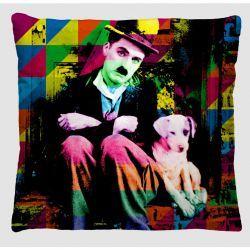 Capa para Almofada Colorida Estampada Tecido Microfibra - Chaplin A56