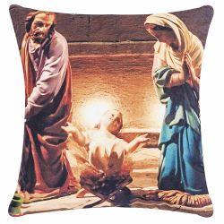 Capa Almofada Fantasy com Zíper 01 Peça Estampa Print - Menino Jesus