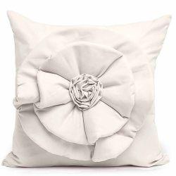 Capa Almofada Floralle com Zíper  01 Peça Detalhe de Flor - Palha