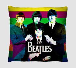 Capa para Almofada Colorida Estampada Tecido Microfibra - Beatles A54