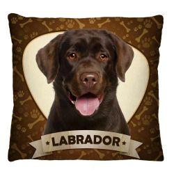 Capa para Almofada Estampada Tecido Microfibra - Labrador A257