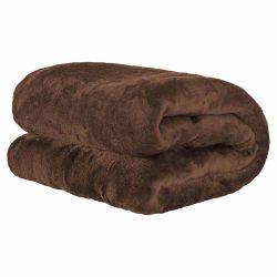 Cobertor Casal Manta de Microfibra 01 Peça (Toque Aveludado) - Tabaco