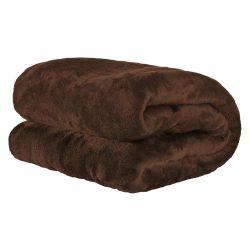 Cobertor Casal Manta Microfibra Fleece 01 Peça -Tabaco
