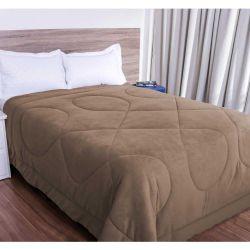 Cobertor Queen Smaniotto Dupla Face Manta Soft Liso 01 Peça - Caqui