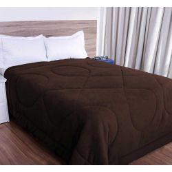Cobertor Solteiro Smaniotto Dupla Face Manta Soft Liso 01 Peça - Tabaco