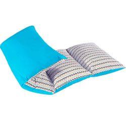 Colchonete Infantil Ninos Tecido Tricoline 150 Fios Estampado - Zig Zag Azul