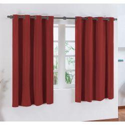 Cortina Blackout Corta Luz 2m x 1,30m Tecido PVC - Vermelho