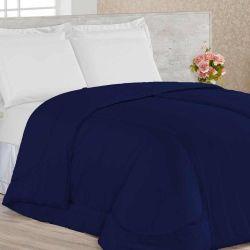 Edredom Casal Confortable 01 Peça Dupla Face - Azul Marinho