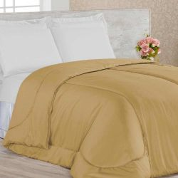 Edredom Casal Confortable 01 Peça Dupla Face - Caqui