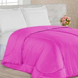 Edredom Casal Confortable 01 Peça Dupla Face - Pink